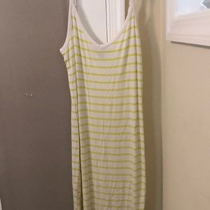 Lime Green and White plus size bodycon dress
